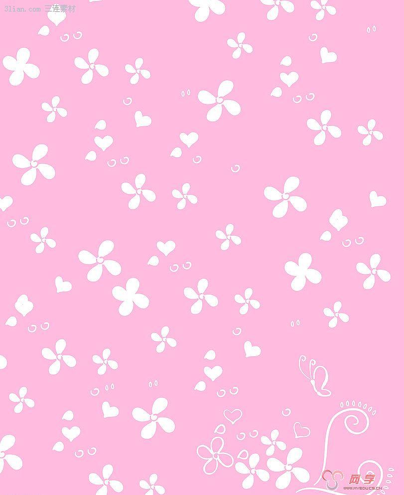 网学 网页素材 背景图片 > 正文                紫色花纹图片