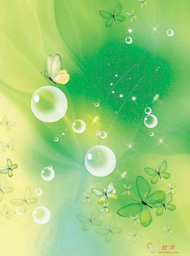 绿色梦幻背景图片
