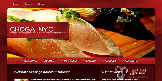 美食网页设计欣赏