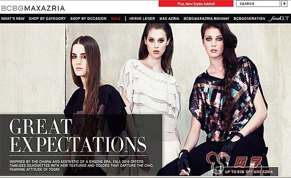 国外服装网站界面设计欣赏