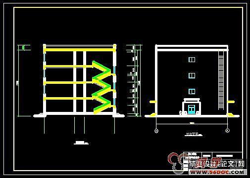 4建筑层数:4层. 5.结构形式:钢筋混凝土框架结构