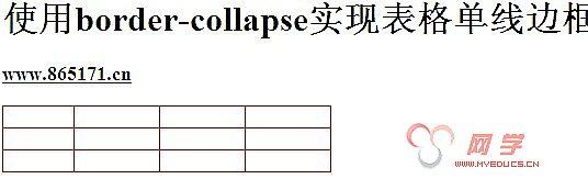 使用border-collapse实现表格单线边框